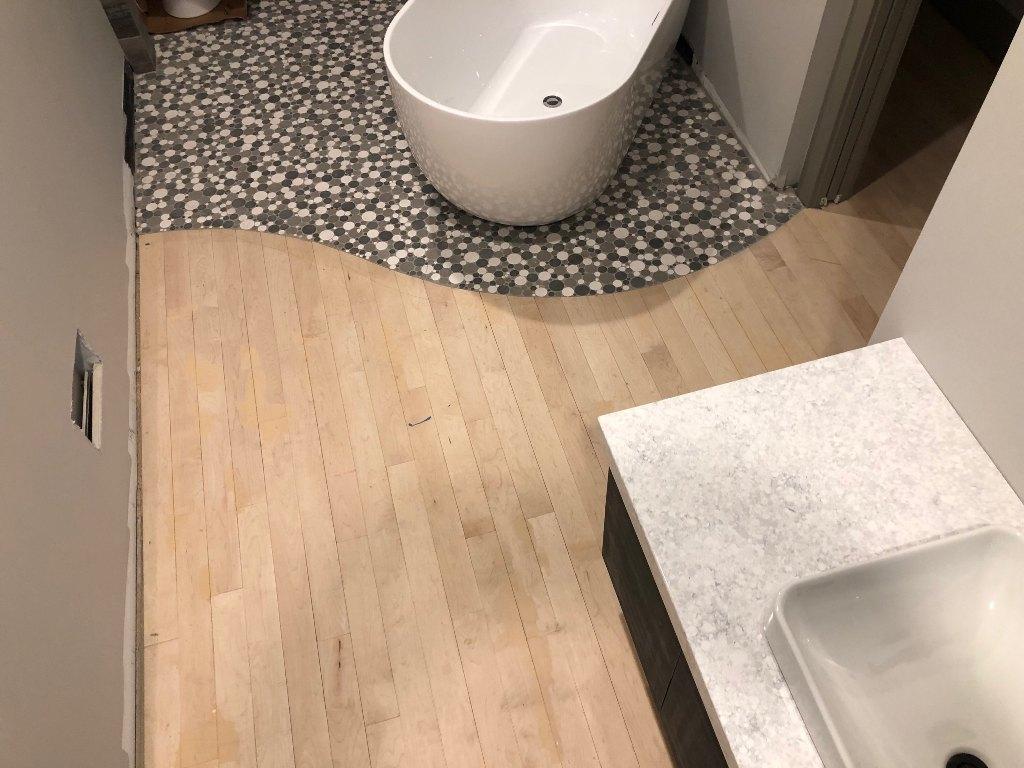 Hardwood Floor Bathroom